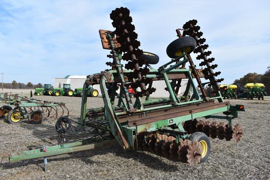 John Deere 230 30' shop built vertical tillage tool