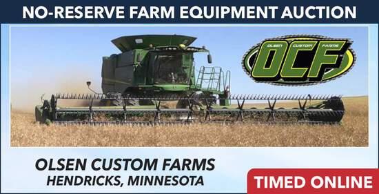 No-Reserve Farm Equipment Auction - Olsen