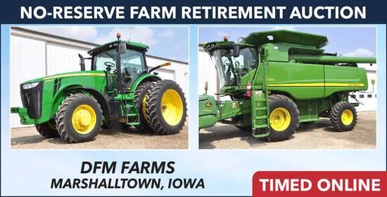 No-Reserve Farm Retirement Auction - DFM Farms