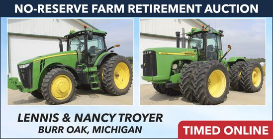 No-Reserve Farm Retirement Auction - Troyer