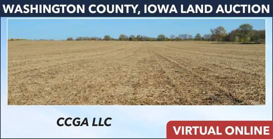 Washington County, IA Land Auction - CCGA LLC