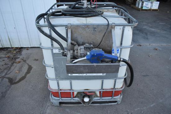 200 gal. DEF tote, Benecor 12 volt pump