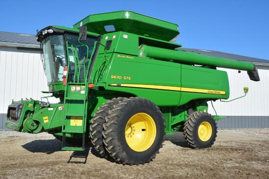 2009 John Deere 9670 STS 2wd combine