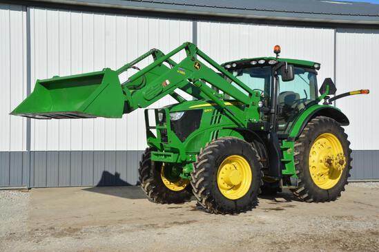 2013 John Deere 6210R Premium MFWD tractor