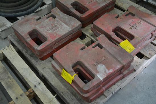 (6) International front suitcase weights