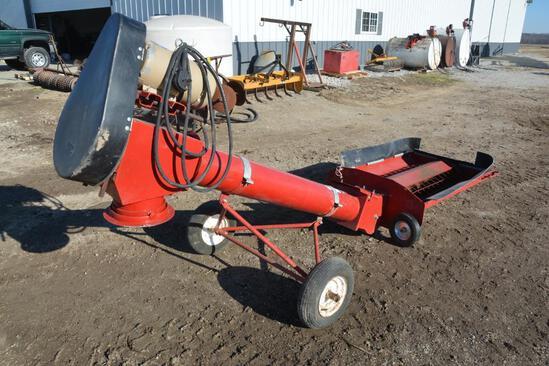 "Mayrath 8"" x 10' portable auger hopper"