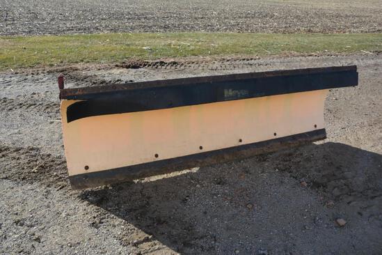 Meyer 8' poly skid loader mount hyd. adj. snow blade