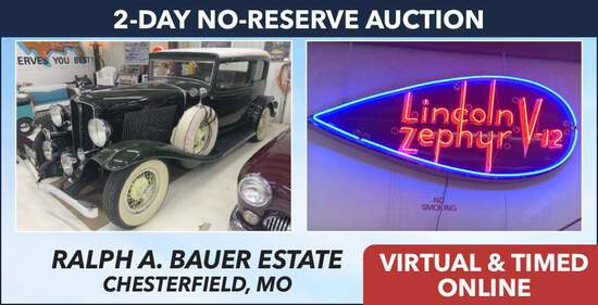Day 1 - Collector Car & Memorabilia Estate - Bauer