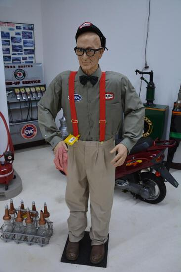 Texaco gas station attendant mannequin