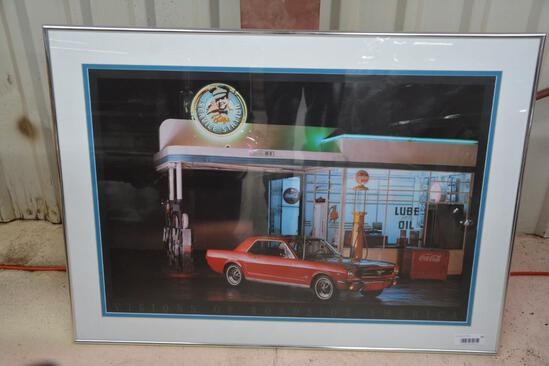 Framed pictured of Ford Mustang