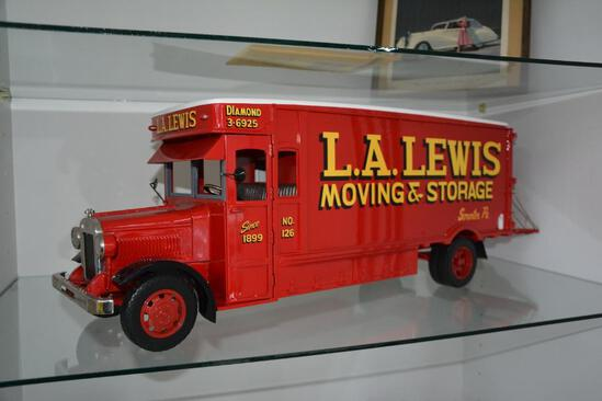 L.A. Lewis Moving & Storage high quality die cast metal toy truck