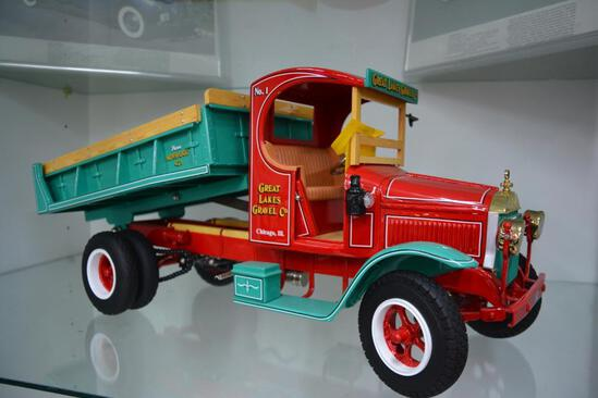"""Great Lakes Gravel Co."" high quality die cast metal toy dump truck"