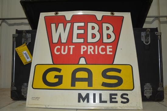 Double sided metal Webb Gas sign