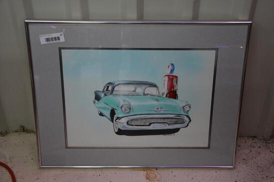 Framed classic car print by Mark House