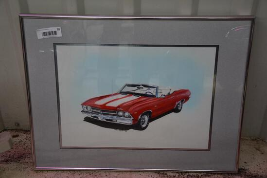 Framed Cadillac print by Mark House
