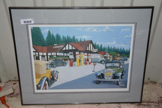 Framed classic car print by Dave Snyder