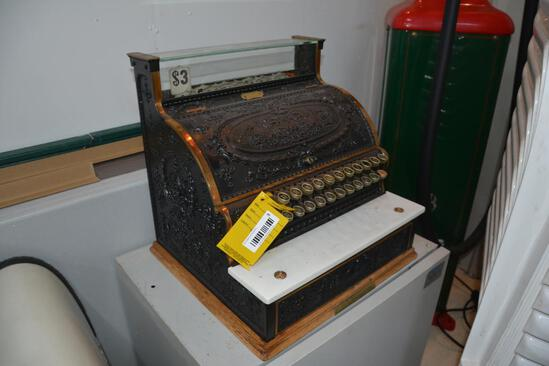 Early National cast iron cash register