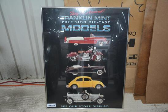 Franklin Mint die cast models framed pictures
