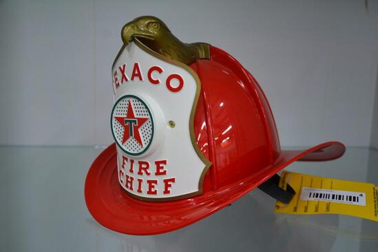 Battery operated plastic Texaco Fire Chief fireman's helmet