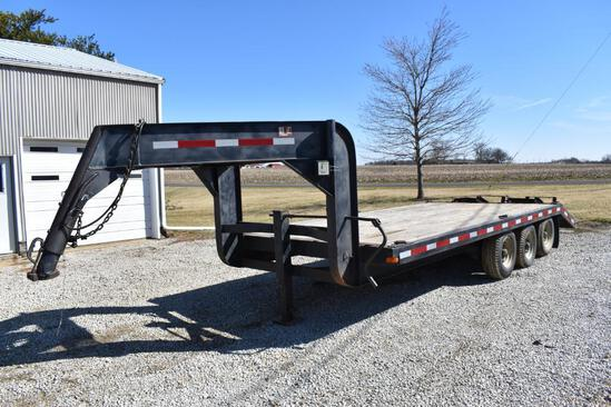 20' gooseneck flatbed trailer