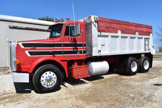 1987 Peterbilt 357 grain truck
