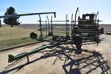 24' 5-bar harrow on cart
