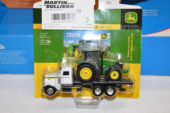 Ertl 1-64 scale jd7200R tractor and flatbed truck
