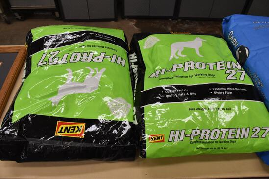 (2) bags of Kent Hy-Protein 27, 40 lb. bags