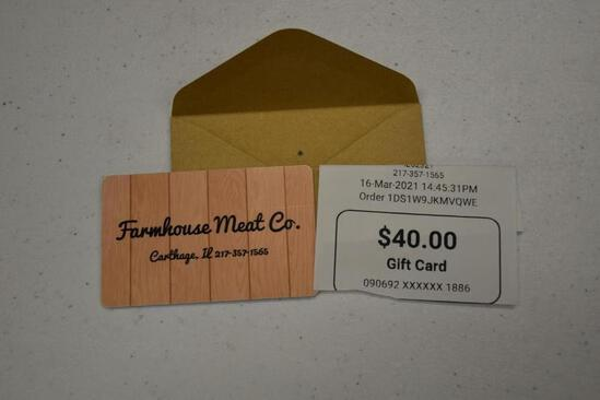 $40 Farm House Meat Gift Card