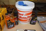 Auto Zone car cleaning kit with 5 gallon bucket