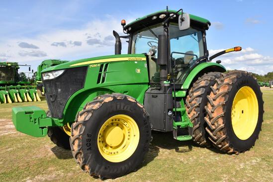 2017 John Deere 7230R MFWD tractor
