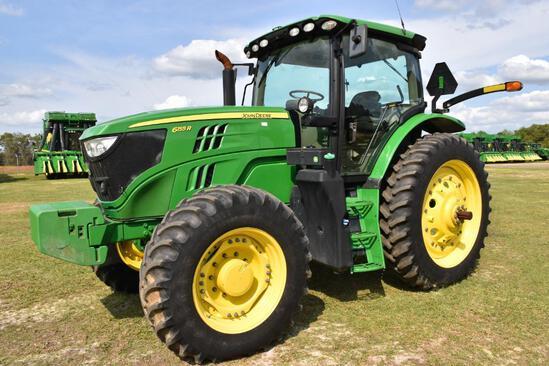 2017 John Deere 6155R MFWD tractor