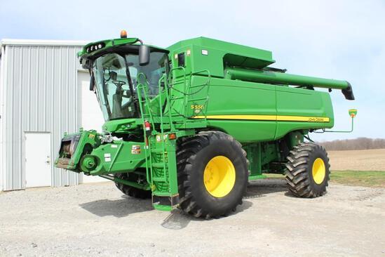 2013 JD S550 4wd combine