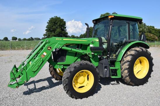 2017 John Deere 5100E MFWD tractor