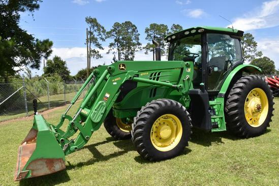 2016 John Deere 6145R MFWD tractor w/loader