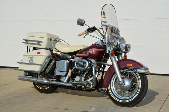 1975 Harley Davidson FLH1200 motorcycle