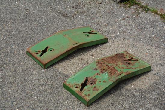 (2) John Deere front pad weights