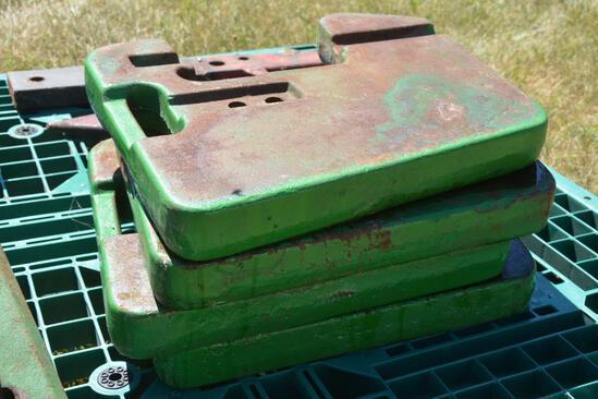 (4) John Deere suitcase weights