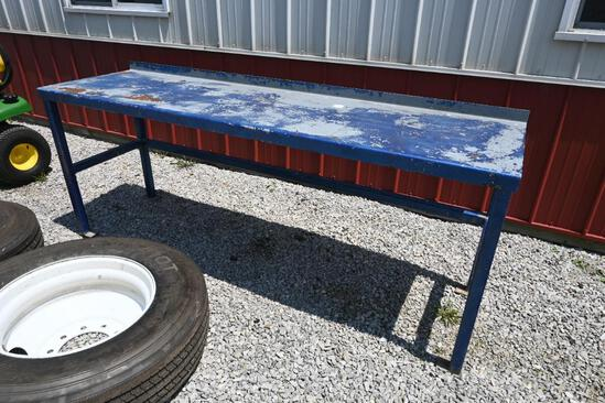 """96""""x26""""x36"""" steel work bench"""