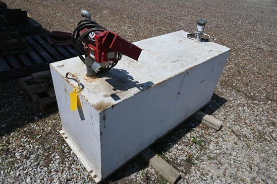 Fuel tank w/Fill-Rite 15 GMP 12V pump