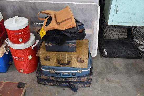 Stack of bags and luggage
