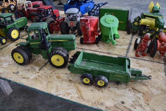 John Deere tractor and manure spreader