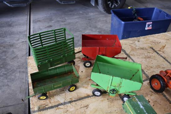 4 Wagons to include, 2 gravity and 2 pull behind