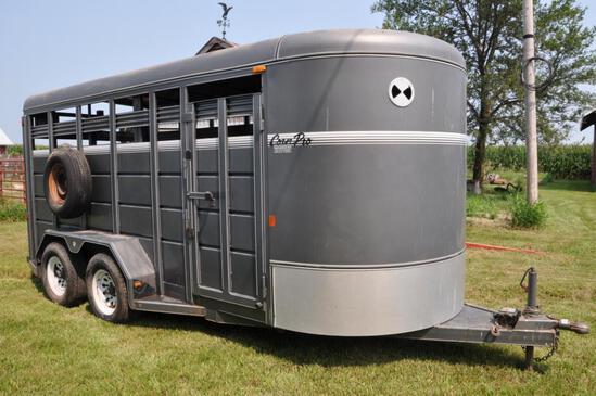 2008 Corn Pro 16' livestock trailer