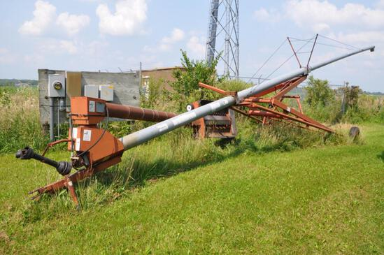 "Hutchison 8""x62' swing-away auger"