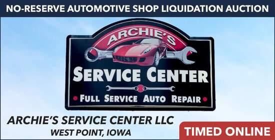No-Reserve Automotive Shop Liquidation - Archie's