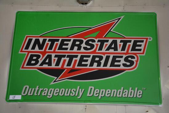 "36"" x 24"" Interstate batteries metal sign"
