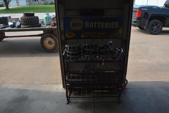 Napa battery display rack w/ Chevy center caps