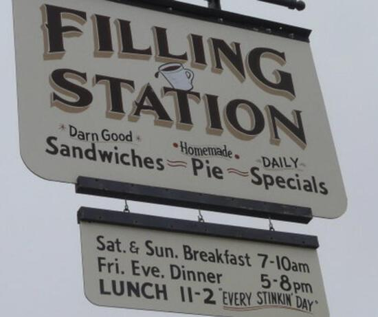 Fill up at the Filling Station