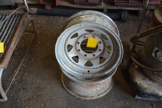 (2) steel wheels